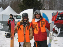 Josh Merson and Taylor Carpenter Supporting Kevin Pearce