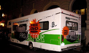 The PROJECTOUR Van on the NY streets